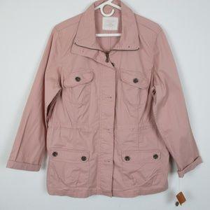 *NWT* Sonoma, Women's Pink Utility Jacket, XLarge